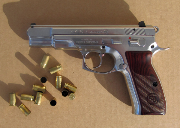 CZ-75B in polished stainless and cocobolo grips