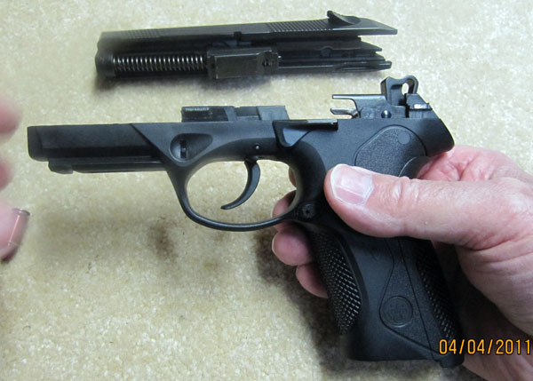 Beretta PX4 Storm with Slide Removed