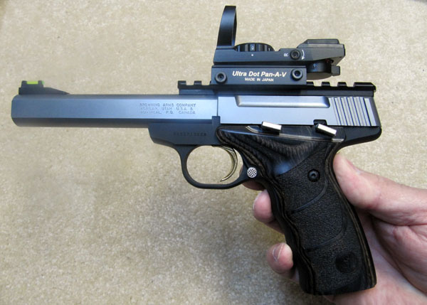 Browning Buckmark Plus with Picatinny rail and Ultra Dot Reflex Sight
