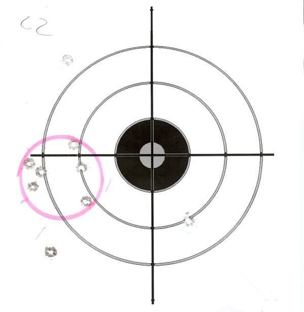 CZ 2075 Target 6 rounds in 2 inch group at 15 Yds