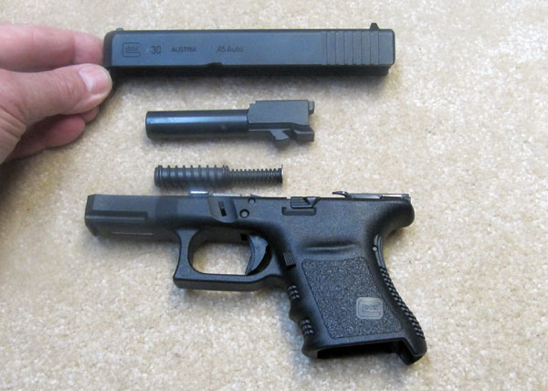 Glock 30 Disassembled for Cleaning