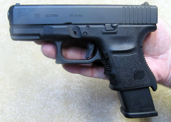 Glock 30 with 13 Rd Glock 21 Magazine